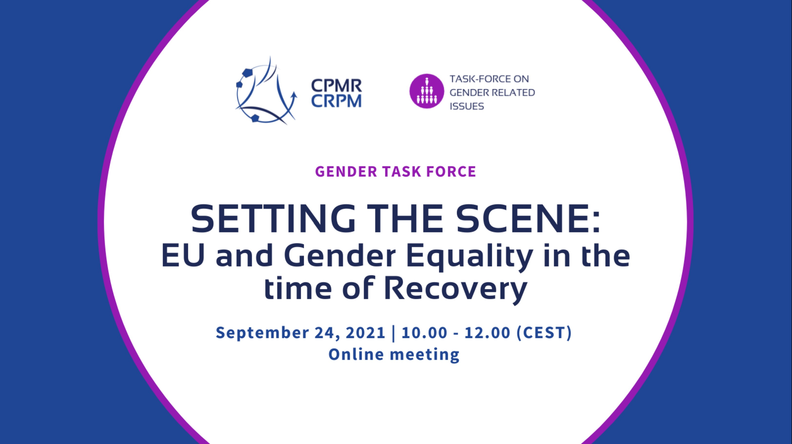Gender Task Force: Setting the Scene: EU and Gender Equality in the time of Recovery